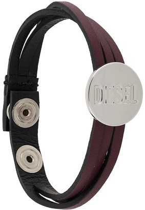 Diesel Engraved Coin Bracelet