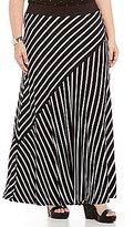 Peter Nygard Plus Mix A-Line Maxi Skirt