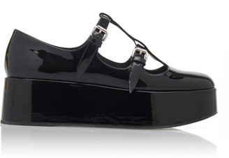 Miu Miu Graphic Buckle Flats