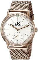 Adee Kaye Men's AK9044N-MRG Vintage Slim Mechanical Hand-Wind Rose Gold-Tone Stainless Steel Watch