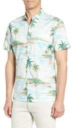 Tori Richard Atoll Regular Fit Short Sleeve Button-Up Sport Shirt