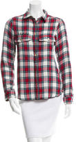 Zadig & Voltaire Embroidered Plaid Top