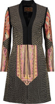 Etro Wool-paneled printed matelassé coat