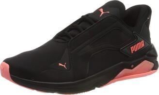 Puma Women's LQDCELL Method Pearl WN's Gymnastics Shoe Black-Nrgy Peach 4.5