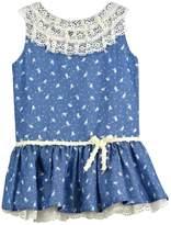 cesar blanco Bird Denim Dress