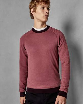 Ted Baker Striped Sleeve Cotton Jumper