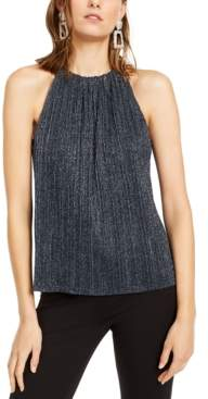 INC International Concepts Inc Shine Halter Top, Created For Macy's