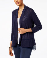 Style&Co. Style & Co Open-Front Chiffon-Hem Cardigan, Only at Macy's