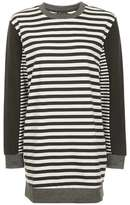 Multi stripe sweat tunic