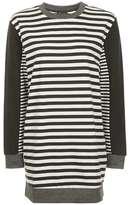 Topshop Multi stripe sweat tunic