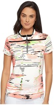 Jamie Sadock - Staccato Print Above Elbow Short Sleeve Top Women's Clothing