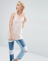 Asos Tank With Optic Tattoo Print And Drop Armhole In Wash