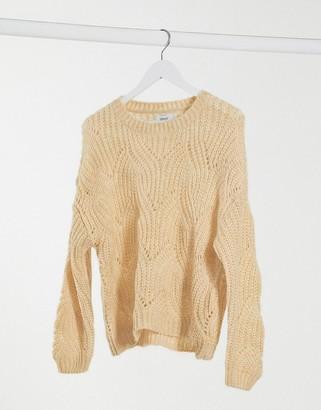 Only havana crochet jumper in beige