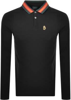 Luke 1977 Long Sleeved Polo T Shirt Black