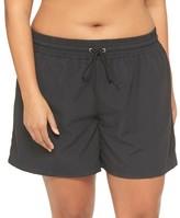 Women's Plus Size Swim Board Shorts - Ava & Viv - Black 20W/22W