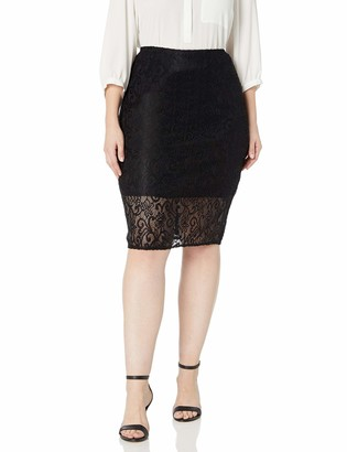 Star Vixen Women's Plus-Size Pencil Skirt with Short Lining
