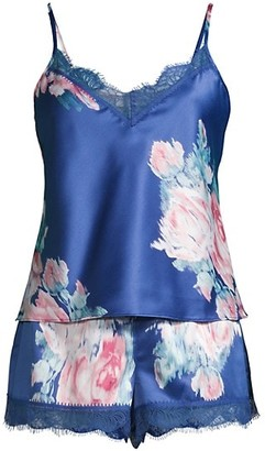 In Bloom Lovely Rita Floral 2-Piece Camisol & Shorts Pajama Set