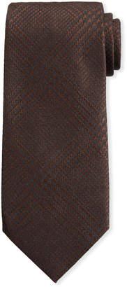 Tom Ford Houndstooth Silk/Wool Tie, Brown