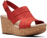 Clarks Annadel Ivory Women's Leather Wedge Sandals