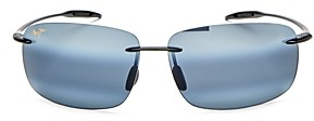 Maui Jim Unisex Breakwall Polarized Rimless Square Sunglasses, 63mm