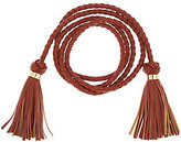 C. Wonder As Is Faux Leather Braided Tie Belt with Tassels
