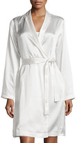La Perla Silk Long-Sleeve Short Robe