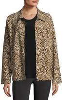 Norma Kamali Reversible Leopard-Print Bomber Jacket