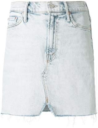 Mother faded denim skirt