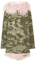 MR & MRS ITALY - Shearling-lined Camouflage-print Cotton-canvas Parka - Army green
