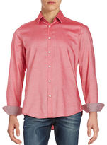 BOSS GREEN Cotton Pin Check Sport Shirt
