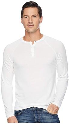 Alternative Organic Long Sleeve Raglan Henley (Currant) Men's Long Sleeve Pullover