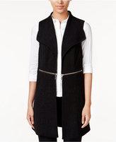 Alfani Petite Zipper-Detail Textured Vest, Only at Macy's