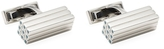 Canali Stainless Steel 3D Bars Rectangular Cufflinks