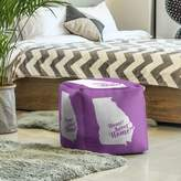 East Urban Home Home Sweet Savannah Cube Ottoman East Urban Home Upholstery Color: Violet