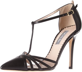 Sarah Jessica Parker Women's Carrie Closed Toe T-Strap Ankle Pump