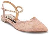 Badgley Mischka Lennon Embellished Skimmer Flat