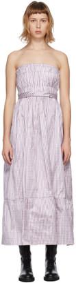 Brock Collection Purple Silk Saura Vichy Dress