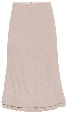 Brock Collection Quarzo linen-blend midi skirt
