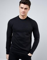 Armani Jeans Sweatshirt With Logo In Black