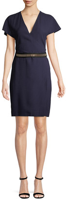 Lanvin Belted Sheath Dress