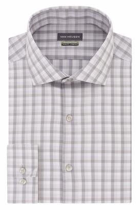 Van Heusen Mens Slim Fit Stretch Check Dress Shirt