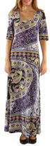 24/7 Comfort Apparel Jewel Maxi Dress
