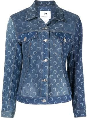 Marine Serre Moon-Print Denim Jacket