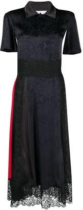Koché Snake-Print Panelled Shirt Dress