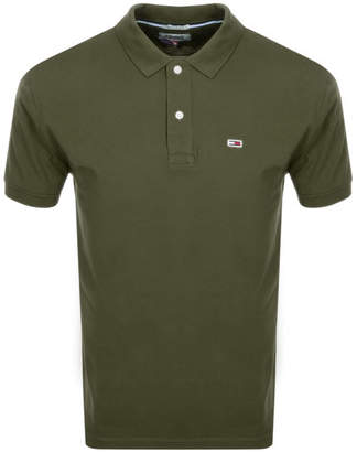Tommy Jeans Regular Fit Polo T Shirt Green