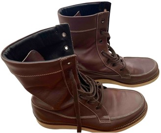 Fendi Brown Leather Boots