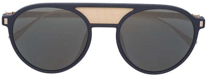 Mykita double bridge round sunglasses