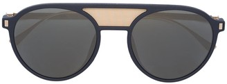 Mykita double bridge round sunglasses