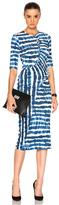 Preen by Thornton Bregazzi Marlena Dress in Blue,Ombre & Tie Dye,White.