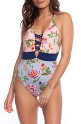 Bikini Lab The Garden Vines Plunge One-Piece Swimsuit